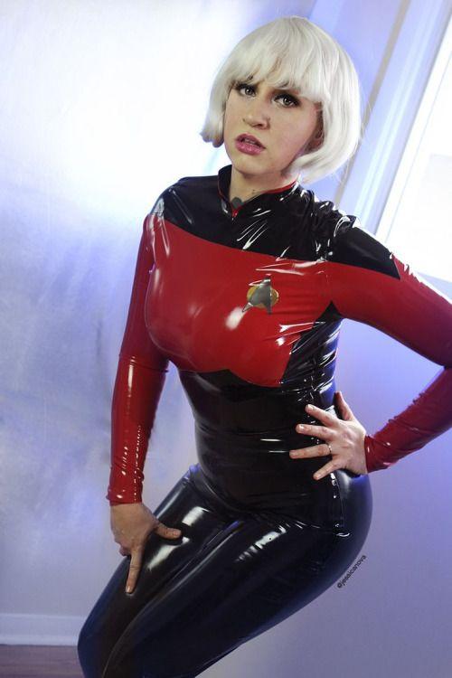 Image Of Latex Star Trek Cosplay Catsuit