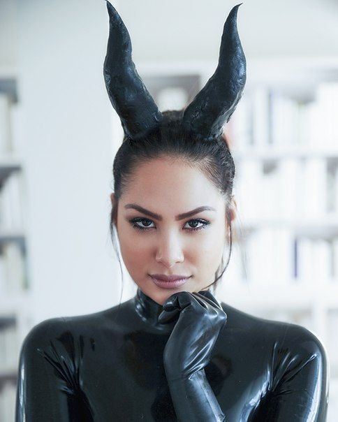 Latex Maleficent costume
