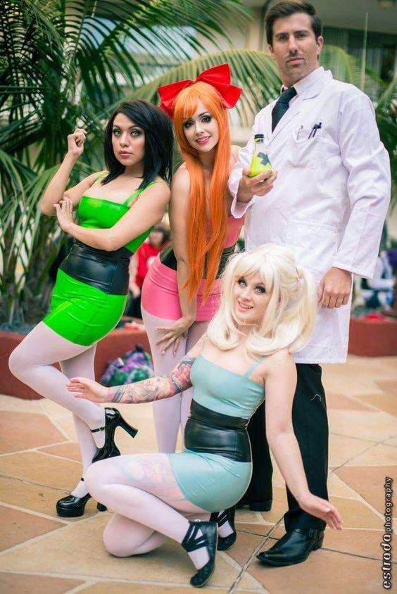 Latex Powerpuff Girls costumes