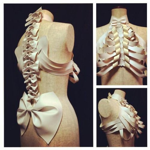 Ribs and spine Halloween costume