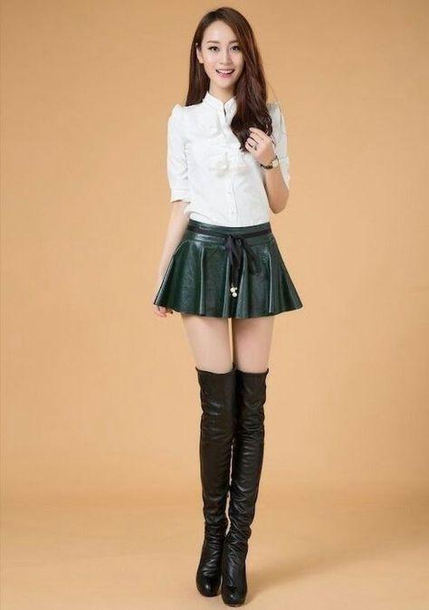 Leather ruffle skirt sewing pattern