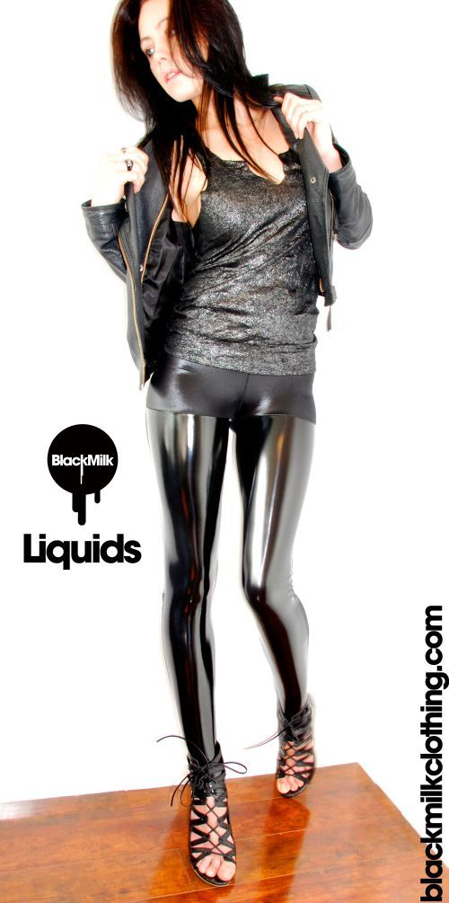 bd573f0df22883 Image of: Liquid vinyl leggings
