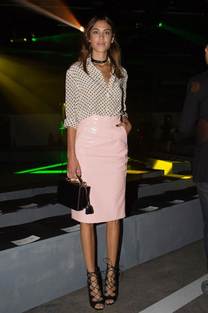 Marc Jacobs Pink Patent Vinyl Skirt