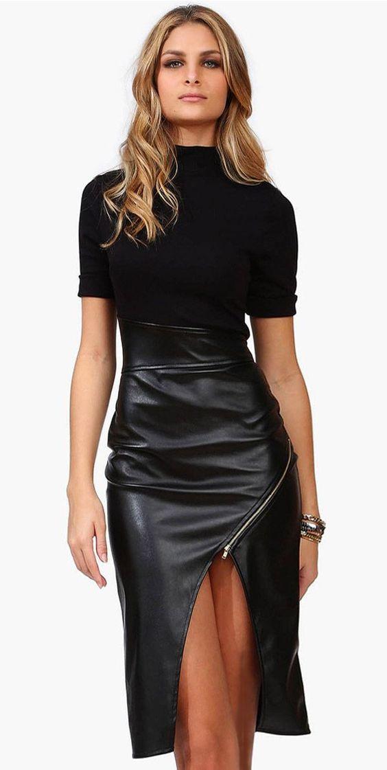 Skirt with zipper detail