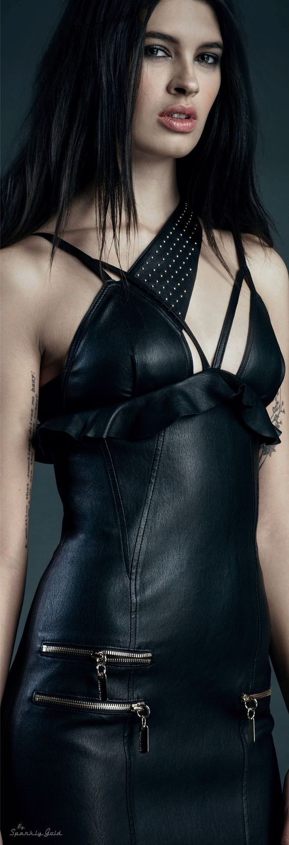Veggie leather dress