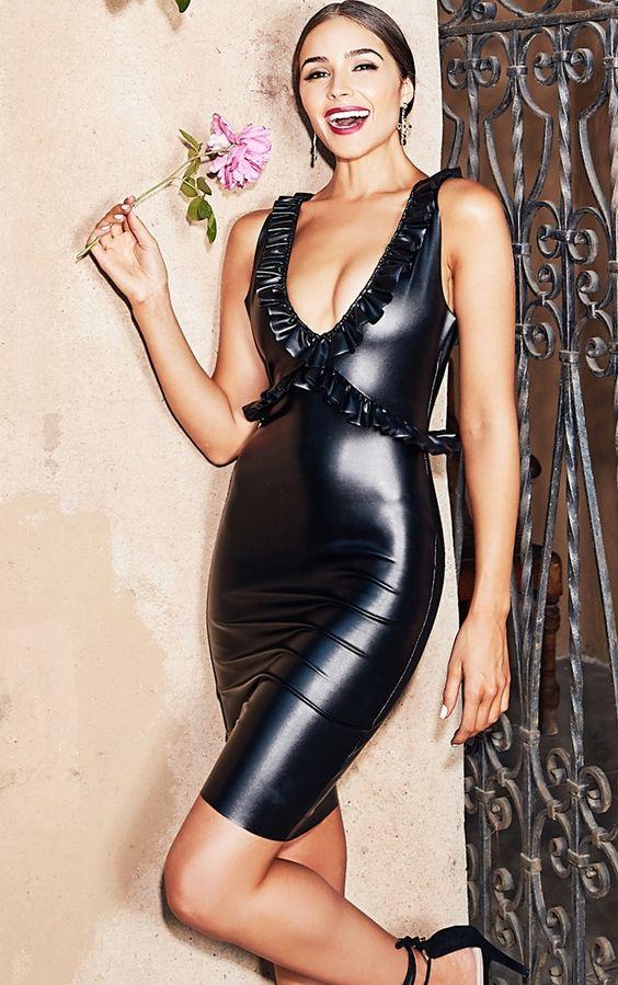 Metallic black spandex fabric