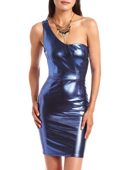 Metallic blue lame spandex