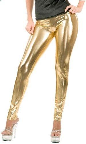 Metallic gold lame spandex