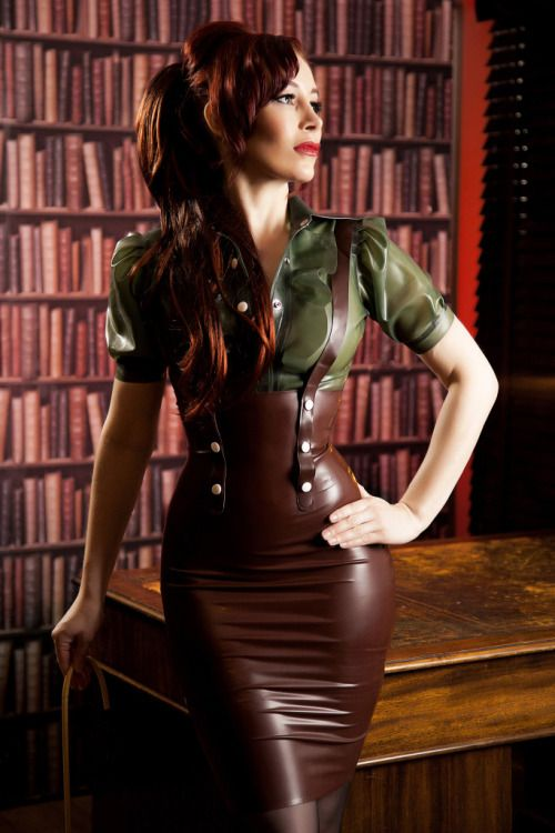 Olive and brown latex