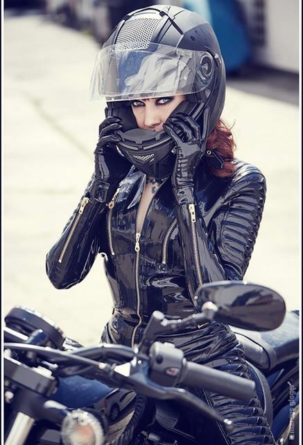 Image Of Patent Vinyl Motorcycle Suit
