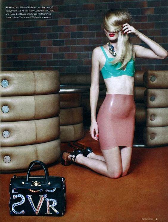 Latex skirt and bra