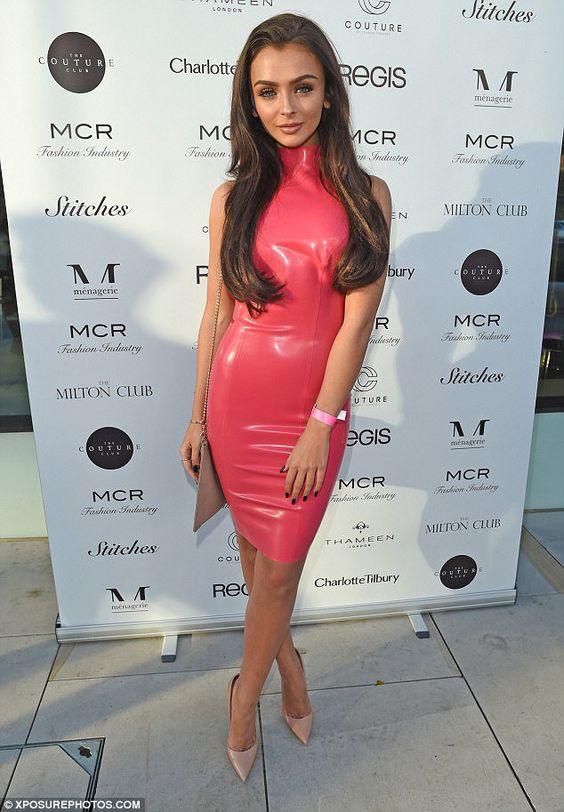 Image Of Pink Latex Dress