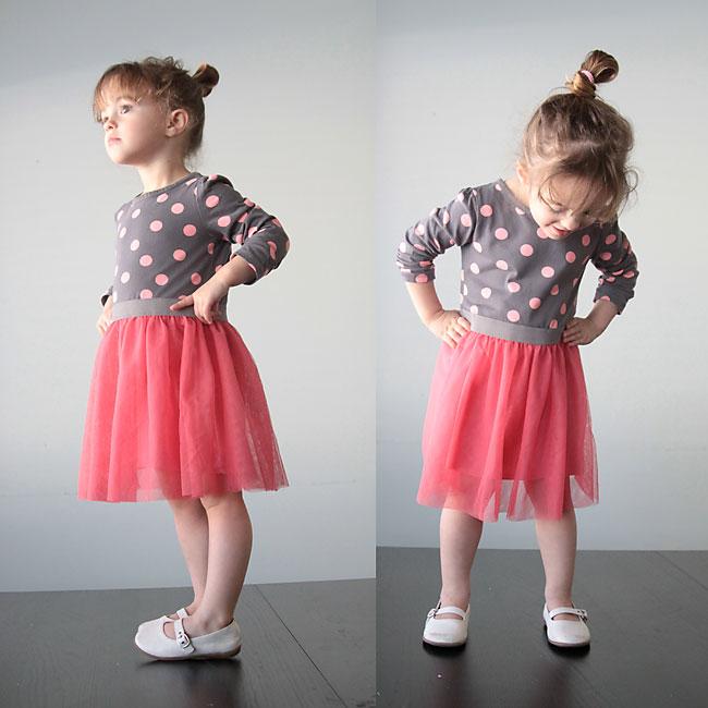 Girl's pink tulle skirt