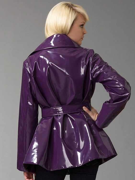 Purple vinyl fabric for coats