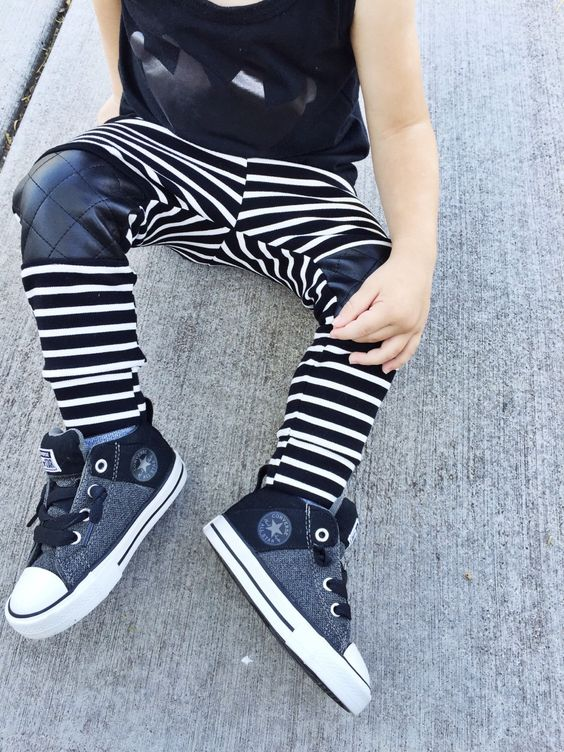 Pants with quilted faux leather patches