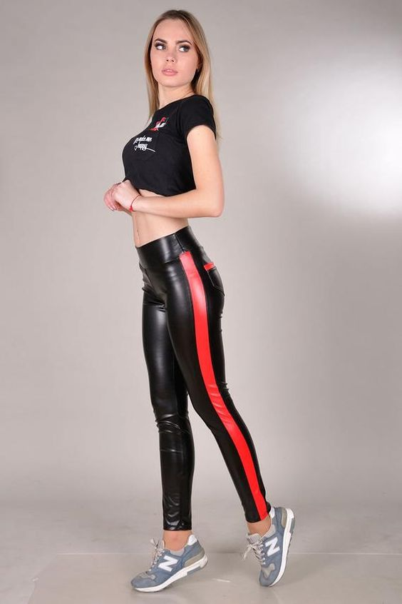 Red and black spandex