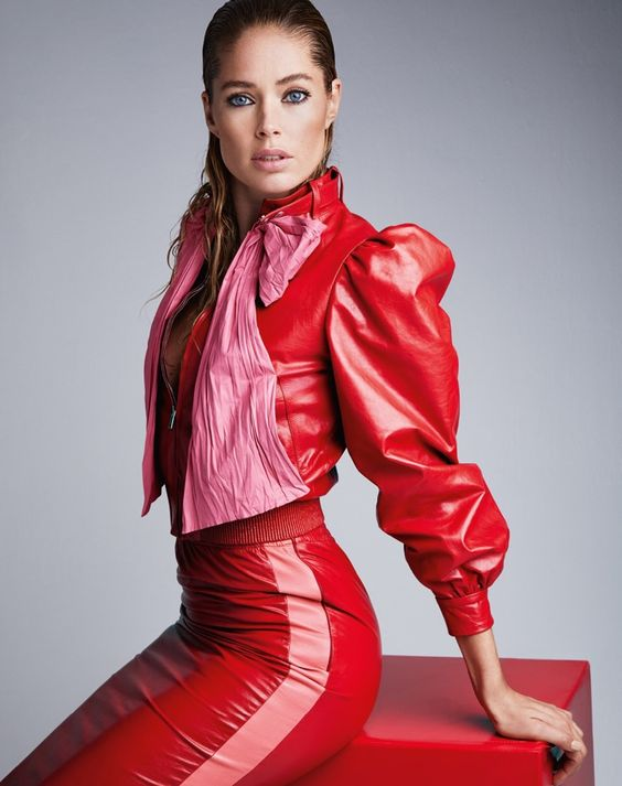 Red veggie leather jacket