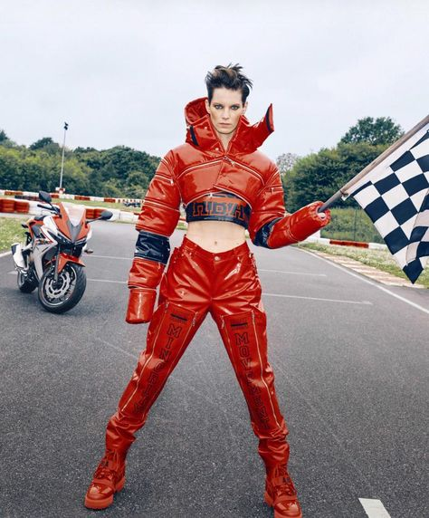 Moto racer vinyl outfit
