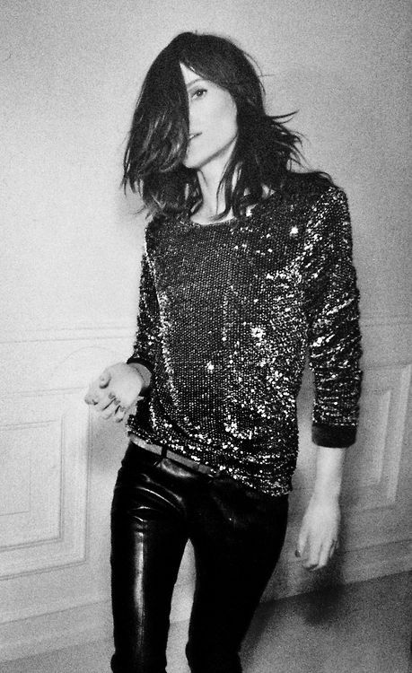 Glam sequins and leather