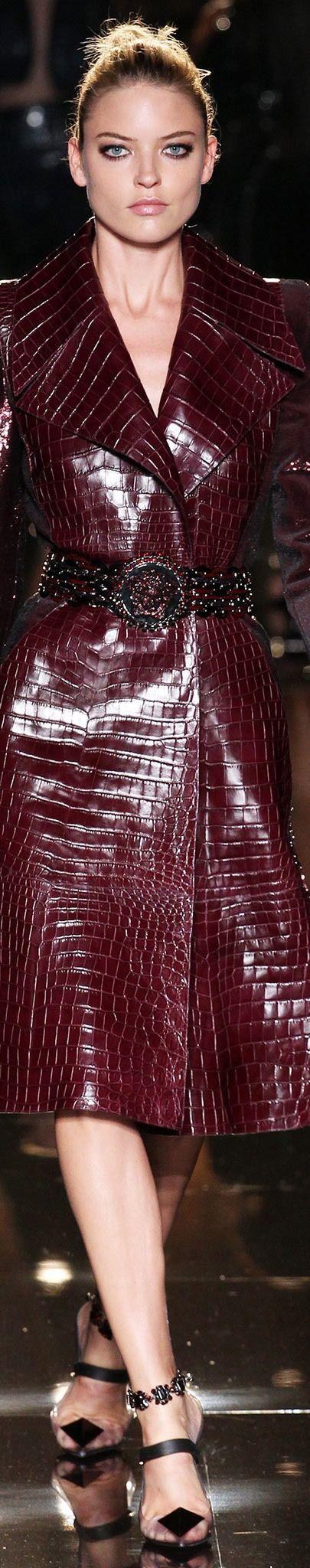 Snakeskin belted coat