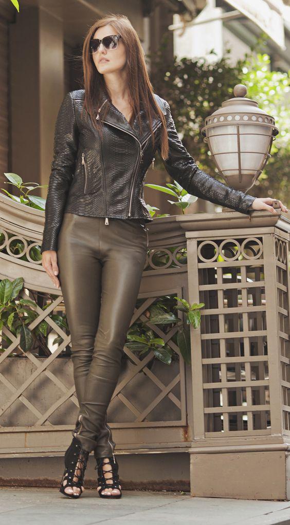 Black snakeskin fabric jacket