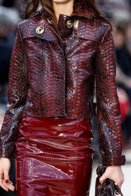 Black and red snakeskin jacket