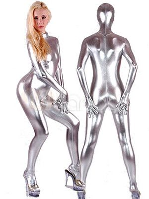Space silver spandex fabric