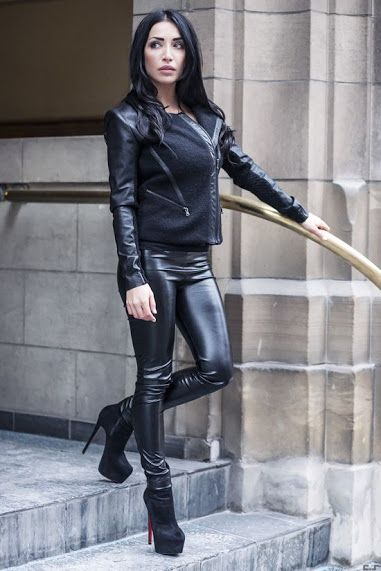 Image Of Stretch Leather Leggings