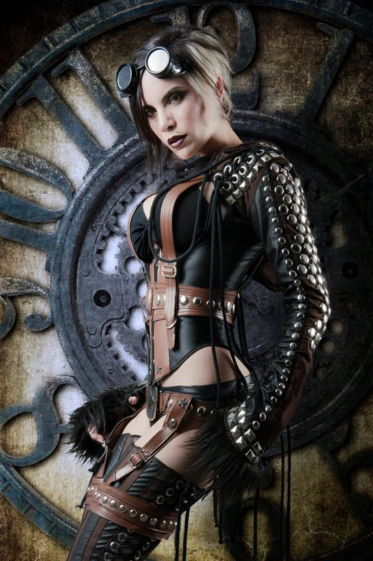 Sexy studded steampunk outfit