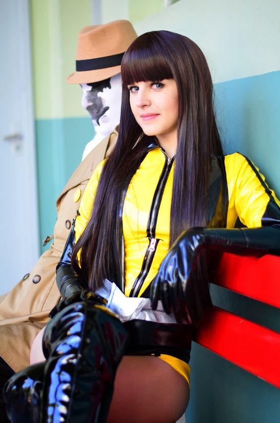 Stretch PVC Silk Spectre cosplay