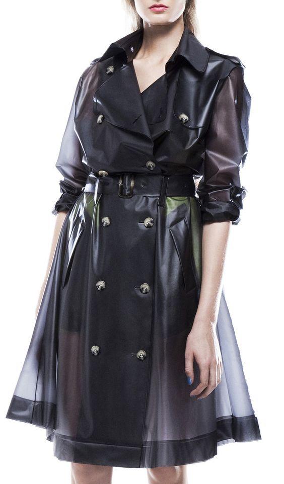 Transparent vinyl coat