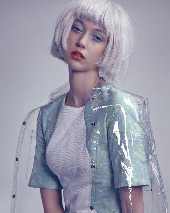 Transparent vinyl jacket