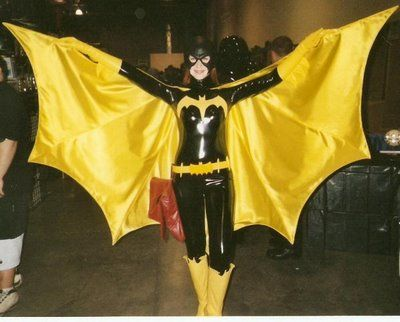 Vegan leather Batgirl costume