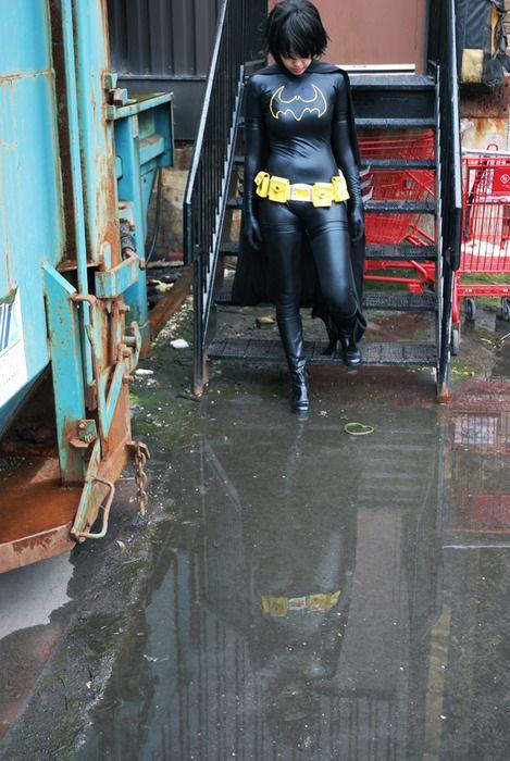 Vegan leather material Batgirl costume