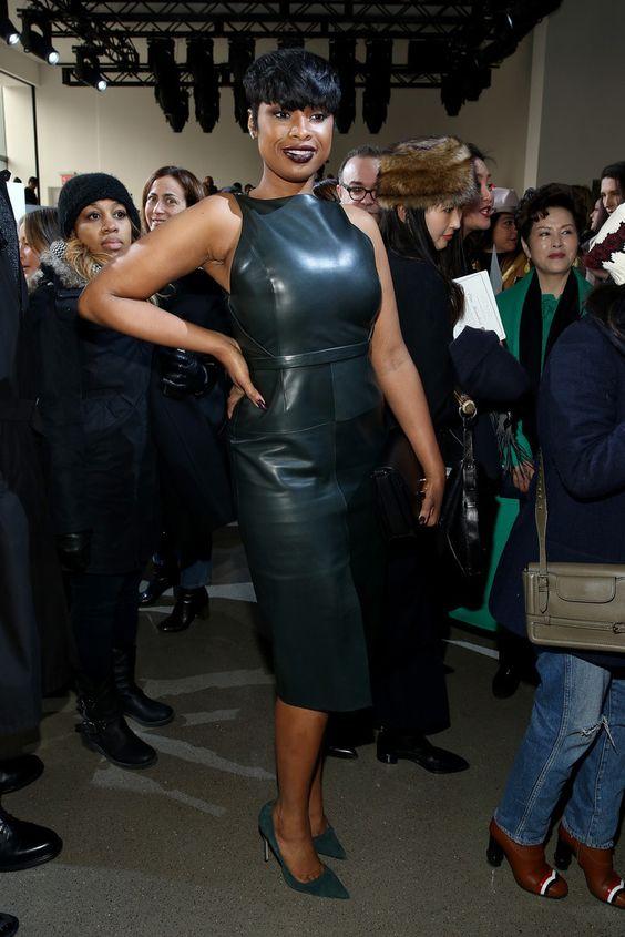 Sleeveless vegan leather dress