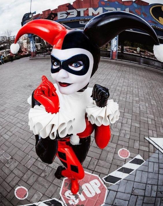 Vegan leather Harley Quinn costume