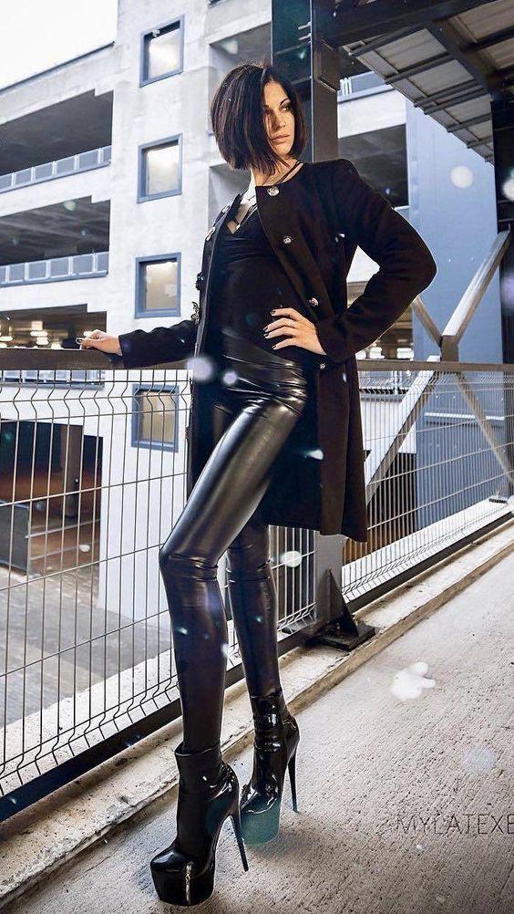 Veggie leather legging fabric