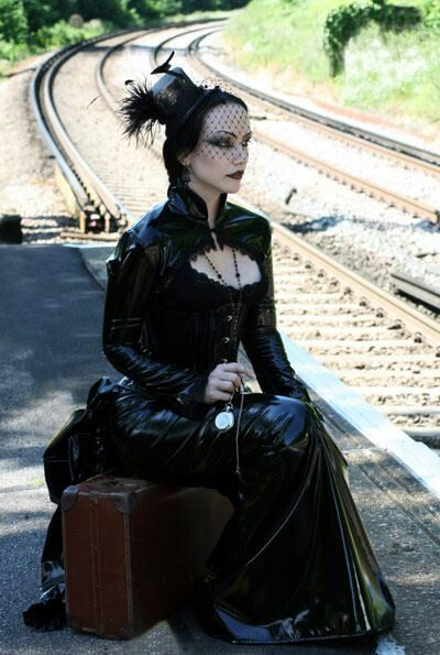 Victorian Black Vinyl Goth