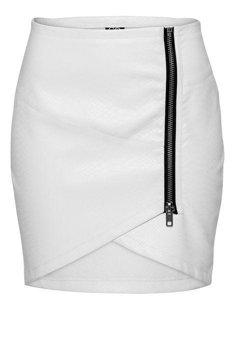 White snakeskin skirt