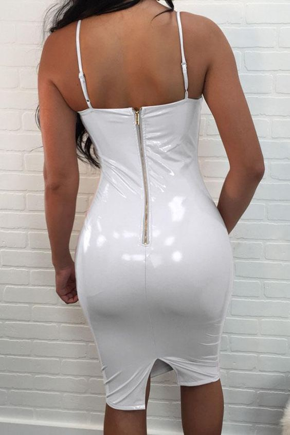 White vinyl stretch fabric