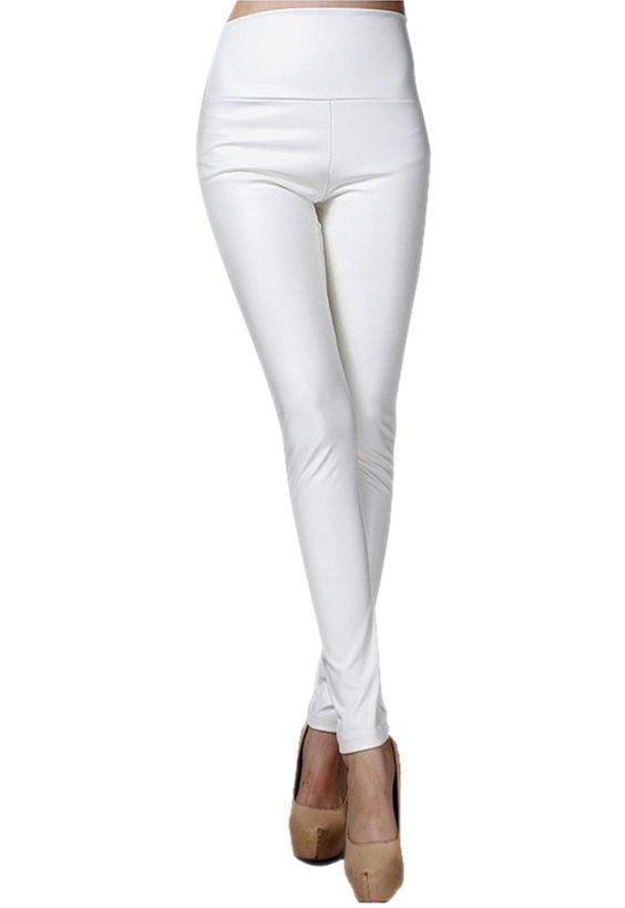 White veggie-leather