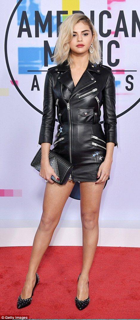 Faux leather dress with zippers