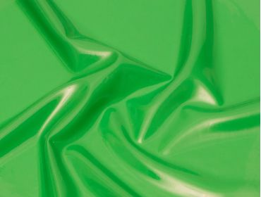 Shiny green latex sheeting.