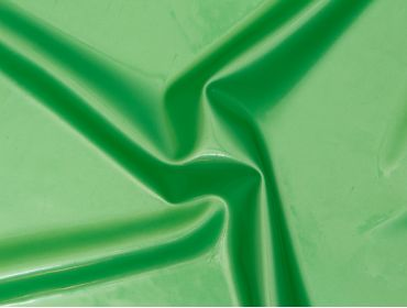 Metallic green latex sheeting.