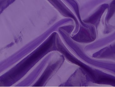 Purple latex shiny fabric.