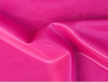 hot pink latex material with shine applied
