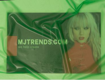Transparent green latex sheeting.