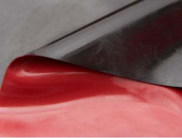 Double sided black and red latex sheeting.