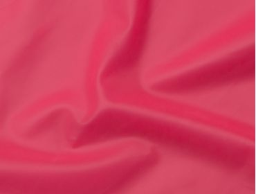 Semi-transparent hot pink thick latex sheeting.