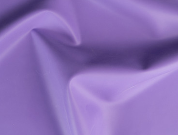 Lilac pastel purple latex sheeting for fetish fashion.
